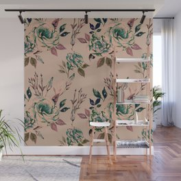 Lisianthus Pattern - Vintage Wall Mural