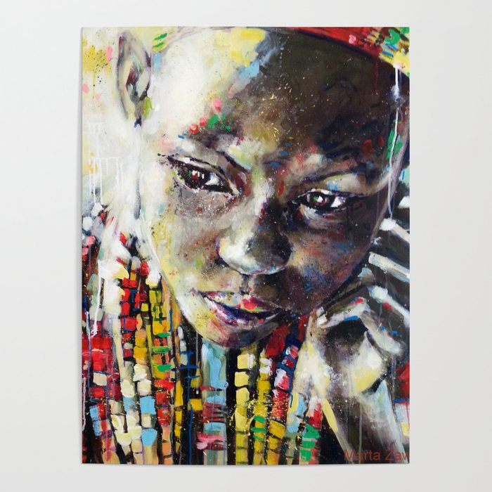 Reverie   Ethnic African Portrait Poster by Society6