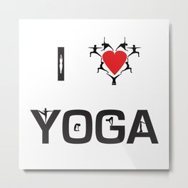 I heart Yoga Metal Print