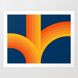 Bounce - Sunset Art Print