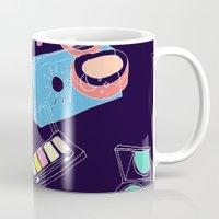 makeup Mugs featuring Retro Makeup by minniemorrisart