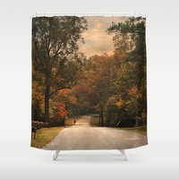 cycling Shower Curtains featuring Cycling Season by Jai Johnson