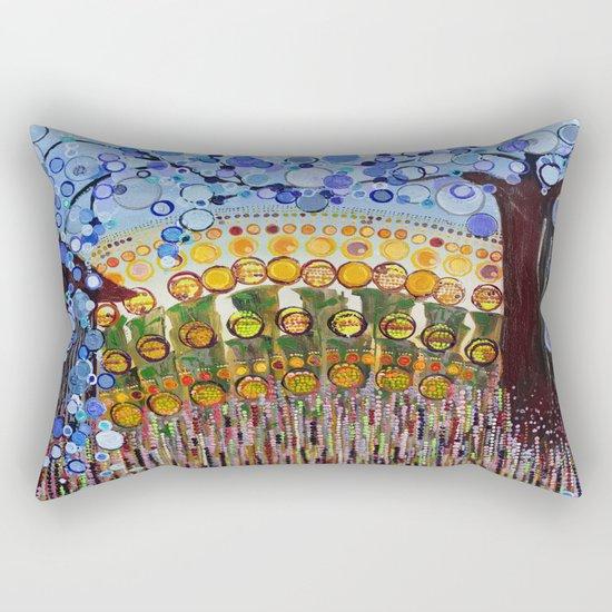 :: Indiana Blue Willow :: Rectangular Pillow