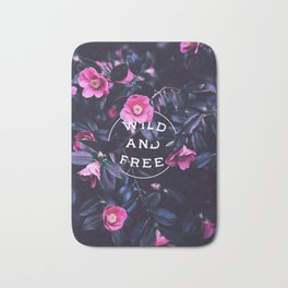 Wild and free (botanic) Bath Mat