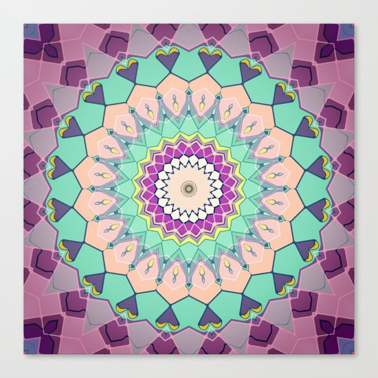 Colorful Symmetrical Abstract Canvas Print