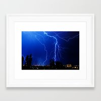 lightning Framed Art Prints featuring Lightning by pakowacz