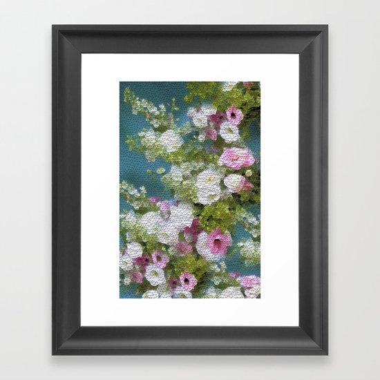 Mosaic Vintage Impressionism- Country Flower Love Joy Framed Art Print