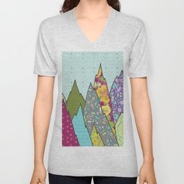 Mountains of Patterns Unisex V-Neck