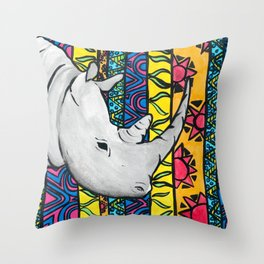 Kay's Rhino Throw Pillow