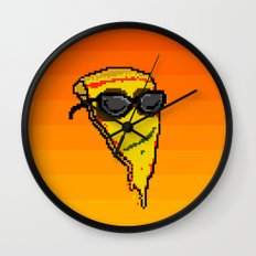 Pizza Dude Wall Clock