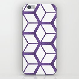 Cubed Pantone Purple Pattern iPhone Skin