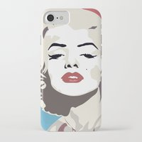 marylin monroe iPhone & iPod Cases featuring Marylin Monroe by Creativehelper