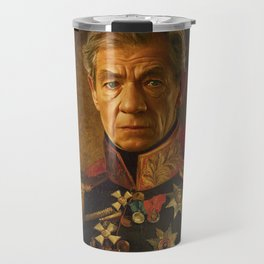 Sir Ian McKellen - replaceface Travel Mug