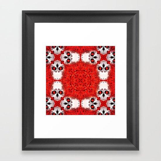 Crystals & Skulls pattern Framed Art Print