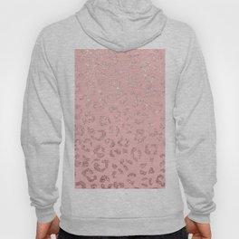 Modern faux rose gold glitter leopard ombre pink pattern Hoody