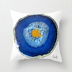 Agate Blue  Throw Pillow