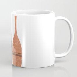 Greek Pottery 39 - Tall Vase - Terracotta Series - Modern, Contemporary, Minimal Abstract - Sienna Coffee Mug