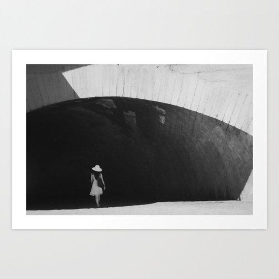 White Hat Art Print