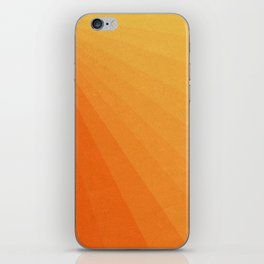 Shades of Sun - Line Gradient Pattern between Light Orange and Pale Orange iPhone Skin
