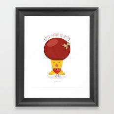 Red Hair is Rad Framed Art Print