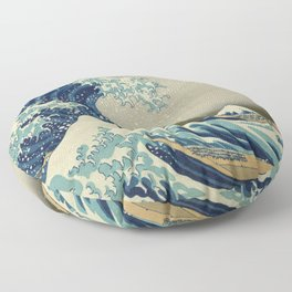 Ukiyo-e, Under the Wave off Kanagawa, Katsushika Hokusai Floor Pillow