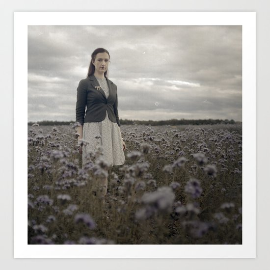 Woman in Field Art Print