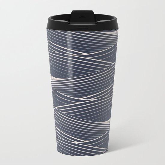 Waves Metal Travel Mug
