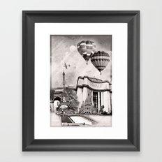 French Collage v1 Framed Art Print