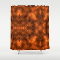 gold foil Shower Curtains featuring Gold Foil Texture 6 by Robin Curtiss