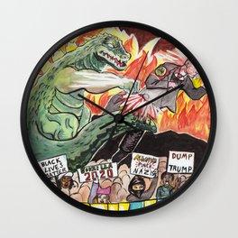 Godzilla vs The Nazis Wall Clock