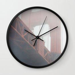 Golden Gate in Fog Wall Clock