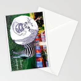 Travel with Zebra and Panda Stationery Cards