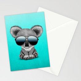 Cute Baby Koala Bear Wearing Sunglasses Stationery Cards