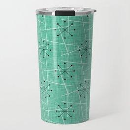 Atomic Starbursts Mid-Century Style Travel Mug