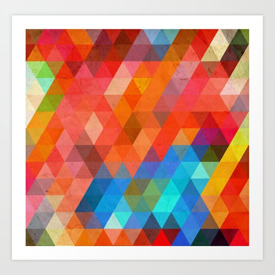 Color Triangles Art Print