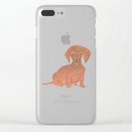 Daffodil the Dachshund Puppy Clear iPhone Case