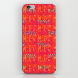 Meow ~ Coral iPhone Skin