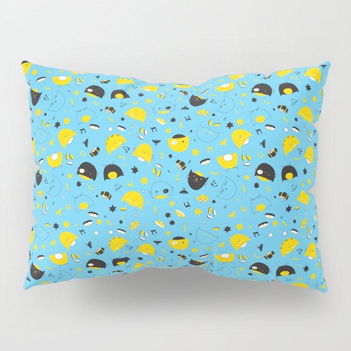Hannukats Blue Pillow Sham