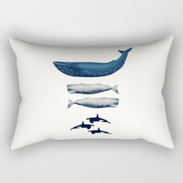 Whale Counting 123  Rectangular Pillow