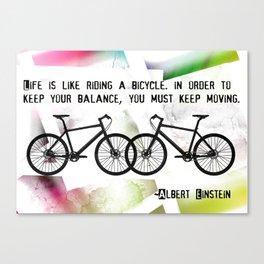 2 Bikes  Canvas Print