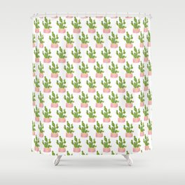 Summer Cacti | Free Hugs Shower Curtain