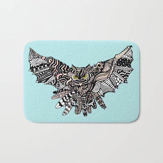 Dragon Owl (Color) Bath Mat