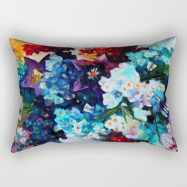 Custom Abstract Flowers Painting Rectangular Pillow