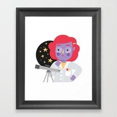 Vera the Scientist Framed Art Print