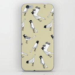 Bird Print - Natural iPhone Skin