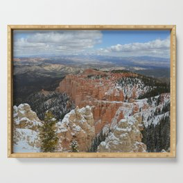 Snow in Bryce Canyon Utah Serving Tray