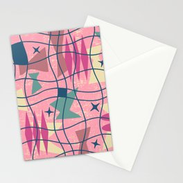 Mid Century Modern Abstract Pattern 413 Stationery Cards