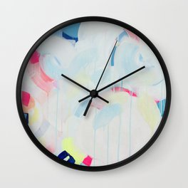 Instant Crush - Abstract painting by Jen Sievers Wall Clock