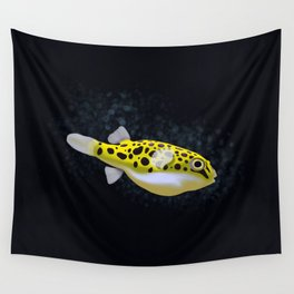 Green Spotted Puffer Wall Tapestry