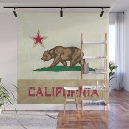 Vintage California Flag Wall Mural